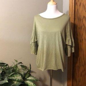 Ruffled sleeved shirt
